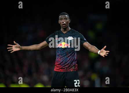 London, UK. 19th Feb, 2020. Nordi Mukiele of RB Leipzig during the UEFA Champions League match between Tottenham Hotspur and RB Leipzig at Wembley Stadium, London, England on 19 February 2020. Photo by Andy Rowland. Credit: PRiME Media Images/Alamy Live News - Stock Photo