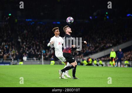 London, UK. 19th Feb, 2020. Timo Werner in the Champions League match against Tottenham Hotspur on Wednesday night. Credit: Robert Michael/dpa-Zentralbild/dpa/Alamy Live News - Stock Photo