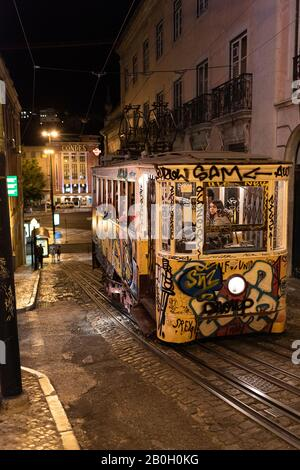 The streets of Lisbon, Portugal.