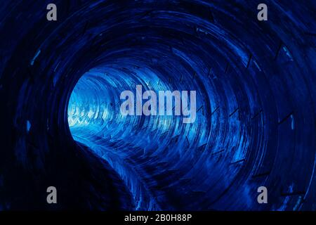 06.01.2020, Oberhausen, North Rhine-Westphalia, Germany - Emscher wastewater sewer, Emscher conversion, new construction of AKE wastewater sewer Emsch - Stock Photo