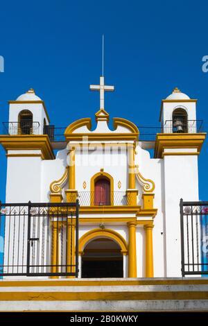 Parroquia Nuestra Señora de Guadalupe, San Cristobal de Las Casas, Chiapas, Mexico - Stock Photo