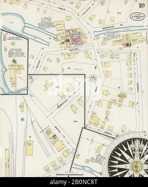 Image 19 of Sanborn Fire Insurance Map from Danbury, Fairfield County, Connecticut. Oct 1897. 19 Sheet(s), America, street map with a Nineteenth Century compass