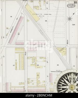Image 19 of Sanborn Fire Insurance Map from Chelsea, Suffolk County, Massachusetts. Mar 1889. 25 Sheet(s), America, street map with a Nineteenth Century compass