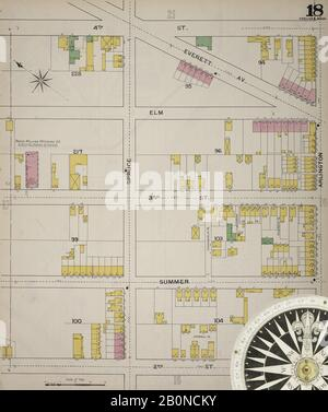 Image 19 of Sanborn Fire Insurance Map from Chelsea, Suffolk County, Massachusetts. 1894. 38 Sheet(s). Bound, America, street map with a Nineteenth Century compass