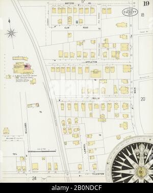 Image 19 of Sanborn Fire Insurance Map from Everett, Middlesex County, Massachusetts. Jun 1897. 27 Sheet(s), America, street map with a Nineteenth Century compass
