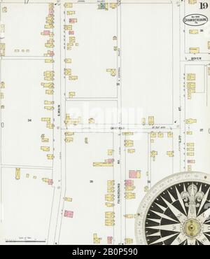 Image 19 of Sanborn Fire Insurance Map from Chambersburg, Franklin County, Pennsylvania. May 1899. 22 Sheet(s), America, street map with a Nineteenth Century compass