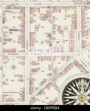 Image 19 of Sanborn Fire Insurance Map from Lancaster, Lancaster County, Pennsylvania. Oct 1886. 25 Sheet(s), America, street map with a Nineteenth Century compass