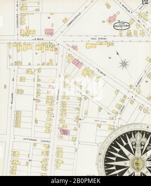 Image 12 of Sanborn Fire Insurance Map from Uniontown, Fayette County, Pennsylvania. Oct 1896. 13 Sheet(s), America, street map with a Nineteenth Century compass