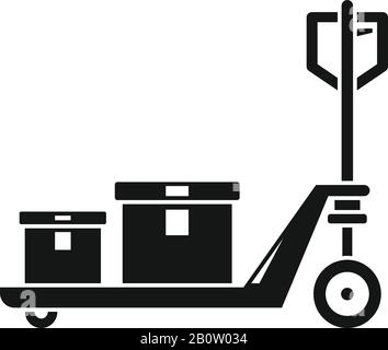 Lift cart icon. Simple illustration of lift cart vector icon for web design isolated on white background - Stock Photo