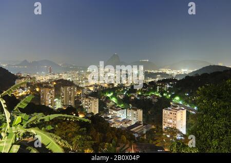 View of Rio de Janeiro with sugar loaf, Brazil, South America, - Stock Photo