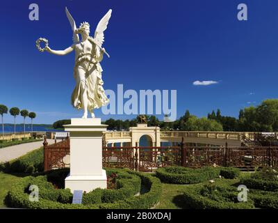 Sculpture of Victoria in the orangery in Schwerin Castle, Schwerin, Mecklenburg-Western Pomerania, Germany, - Stock Photo