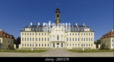 Hubertusburg Castle in Wermsdorf, Saxony, Germany, - Stock Photo