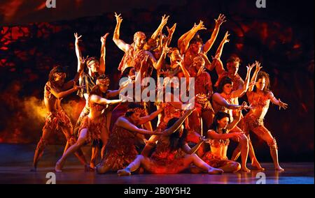 London, UK. 21st Feb, 2020. The ensemble cast in a scene from 'Prince of Egypt' play at the Dominion Theatre, Tottenham Court Road in London. Credit: SOPA Images Limited/Alamy Live News - Stock Photo