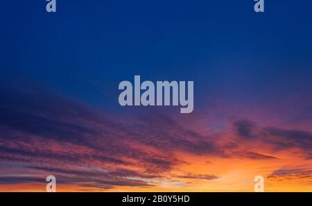 Sunrise Palma de Mallorca, Mallorca, Balearic Islands, Spain, Europe - Stock Photo