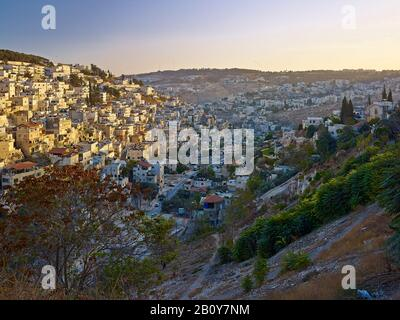 Mount Hashiloa and Kidron Valley of Jerusalem, Israel, - Stock Photo