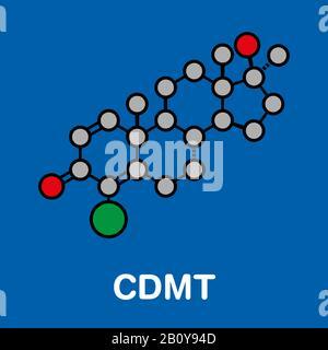 Chlorodehydromethyltestosterone molecule, illustration - Stock Photo