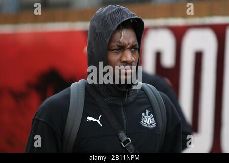 London, UK. 22nd Feb 2020. Allan Saint-Maximin of Newcastle United during the Premier League match between Crystal Palace and Newcastle United at Selhurst Park, London on Saturday 22nd February 2020. (Credit: Jacques Feeney | MI News) Photograph may only be used for newspaper and/or magazine editorial purposes, license required for commercial use Credit: MI News & Sport /Alamy Live News - Stock Photo