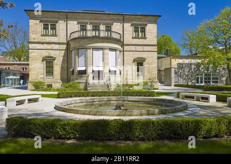 Villa Wahnfried, Richard Wagner's residence in Bayreuth, Upper Franconia, Bavaria, Germany - Stock Photo