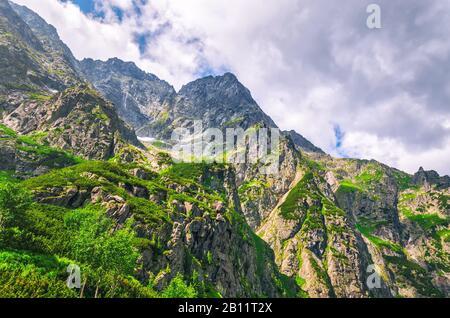 Beautiful mountain landscape at summer day. Zakopane, Poland. - Stock Photo