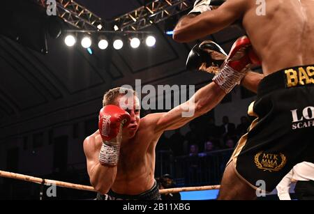 Bethnal Green, United Kingdom. 21st Feb, 2020. Zigimantas Butkevicius. Preliminary bout 3. MTK Golden contract boxing semi finals. York Hall. Bethnal Green. London. UK. Credit Garry Bowden/Sport in Pictures/Alamy Live News. Credit: Sport In Pictures/Alamy Live News - Stock Photo