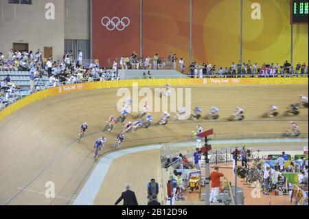 Beijing, CHINA.   Cycling, . Laosham Velodrome, Tuesday - 19/08/2008, [Mandatory Credit: Peter SPURRIER, Intersport Images] - Stock Photo