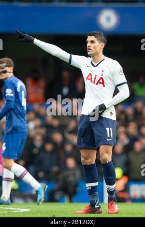 London, UK. 22nd Feb, 2020.Erik Lamela of Tottenham Hotspur during the Premier League match between Chelsea and Tottenham Hotspur at Stamford Bridge, London, England on 22 February 2020. Photo by Salvio Calabrese.  Editorial use only, license required for commercial use. No use in betting, games or a single club/league/player publications. Credit: UK Sports Pics Ltd/Alamy Live News - Stock Photo