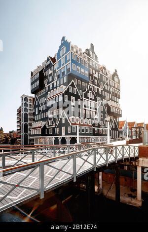 Hotel with exceptional architecture in Zaandam near Amsterdam, Netherlands