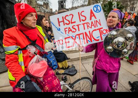 London, UK. 22nd Feb 2020. Extinction Rebellion XR Enough is enough - Together we march. March and rally to highlight the climate emergency and against the police clamping down on peaceful protesters. Credit: Guy Bell/Alamy Live News - Stock Photo