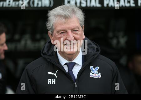 London, UK. 22nd Feb, 2020.Roy Hodgson manager of Crystal Palace during the Premier League match between Crystal Palace and Newcastle United at Selhurst Park, London on Saturday 22nd February 2020. (Credit: Jacques Feeney | MI News) Photograph may only be used for newspaper and/or magazine editorial purposes, license required for commercial use Credit: MI News & Sport /Alamy Live News - Stock Photo