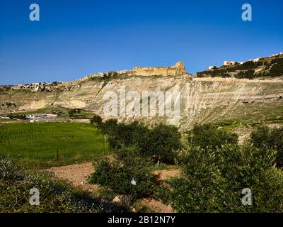 Crusaders Castle Karak,Jordan,Middle East - Stock Photo