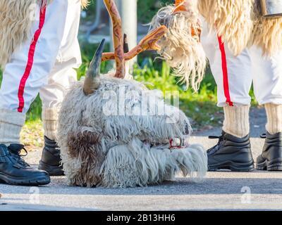 Annual meeting in Matulji near Rijeka bell-ringers from Kvarner Croatia - Stock Photo