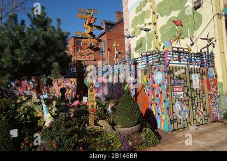 Pittsburgh, Randyland near Mattress Factory modern art museum - Stock Photo