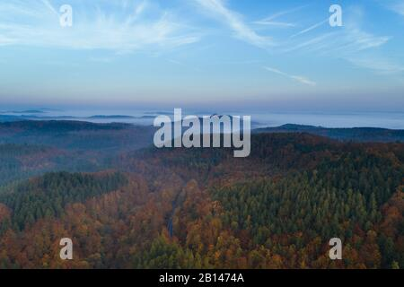 Wartburg in Eisenach on an autumn morning, Germany - Stock Photo