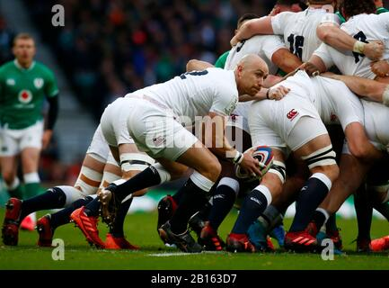 London, UK. 23rd Feb, 2020.  Willi Heienz of England during Guinness Six Nations between England and Ireland at Twickenham Stadium, London, England on 23 February 2020 Credit: Action Foto Sport/Alamy Live News - Stock Photo