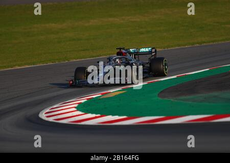 #44 Lewis Hamilton Mercedes AMG Team F1. Formula 1 World championship 2020, Winter testing days #1 2020 Barcelona, 19-21 February 2020. Stock Photo