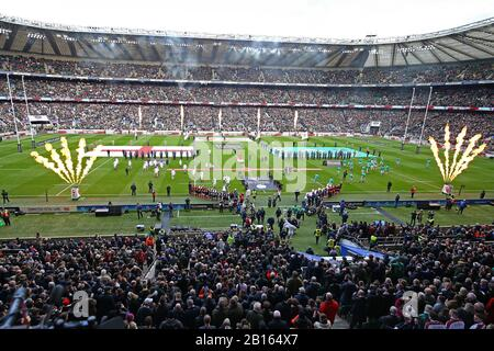 London, UK. 23rd Feb 2020. A general view during Guinness Six Nations between England and Ireland at Twickenham Stadium, London, England on 23 February (Photo by Mitchell Gunn/Espa-Images) Credit: European Sports Photographic Agency/Alamy Live News - Stock Photo