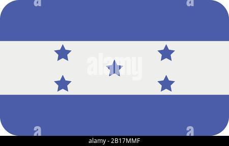 honduras flag illustrated in vector on white background - Stock Photo