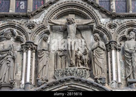 Nidaros Cathedral. The crucifixion. - Stock Photo
