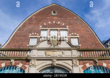 Facade of the maritime museum in Kiel, Germany - Stock Photo