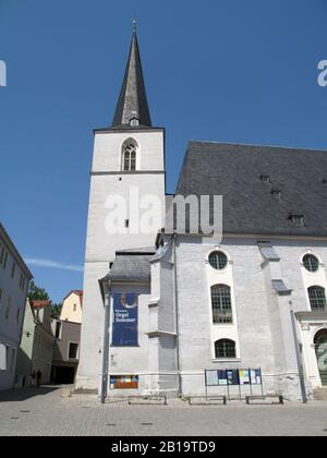 Weimar, Germany 07-25-2019 the historical Herderkirche, church Peter and Paul, in the town center - Stock Photo