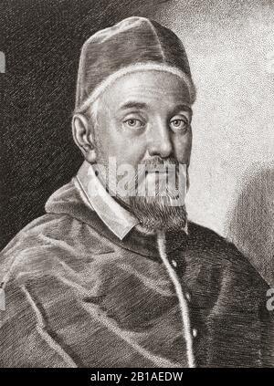 Pope Urban VIII,  c.1568 – 1644.  Born Maffeo Barberini. - Stock Photo