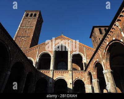 Europe, Italy, Lombardy, Milan, Abbey of S. Ambrogio. Early Christian and medieval Romanesque
