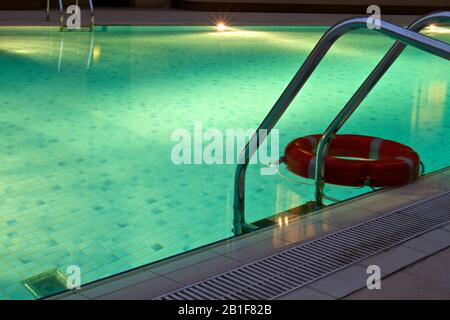 Dubai-Swimming pool mosaic at Building in Al Barsha 6 - Stock Photo