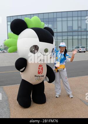 Shunyi, CHINA. 2008 Olympic Regatta,  Saturday, 09.08.2008  [Mandatory Credit: Peter SPURRIER, Intersport Images] - Stock Photo