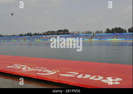 Shunyi, CHINA.  at the 2008 Olympic Regatta, Shunyi Rowing Course. Tuesday 12.08.2008  [Mandatory Credit: Peter SPURRIER, Intersport Images] - Stock Photo