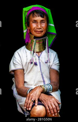 A Portrait Of A Woman From The Kayan (Long Neck) Minority Group, Pan Pet Village, Loikaw, Kayah State, Myanmar.