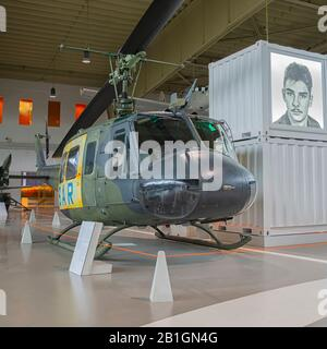 Bell UH-1 at MHM Berlin Gatow in Berlin, Germany - Stock Photo