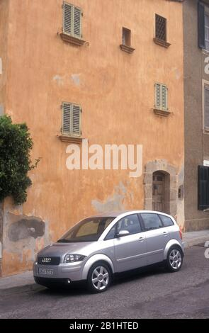 Audi A2 in the South of France 2000 - Stock Photo