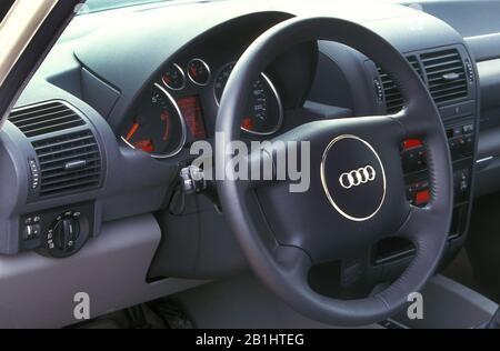 Audi A2 dashboard - Stock Photo