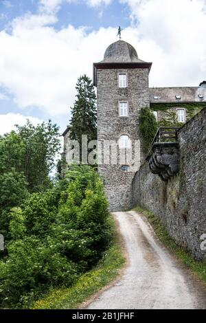 Schnellenberg Castle in Attendorn - Stock Photo